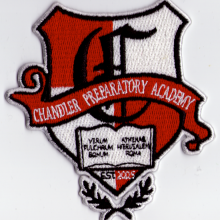 Embroidered School Logo: Chandler Preparatory Academy
