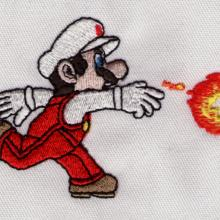 Embroidered Super Mario Bothers Character for Nintendo Fire Ball